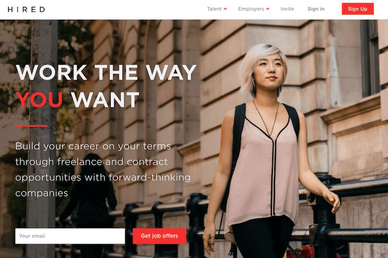 Best freelance website hired - bonsai