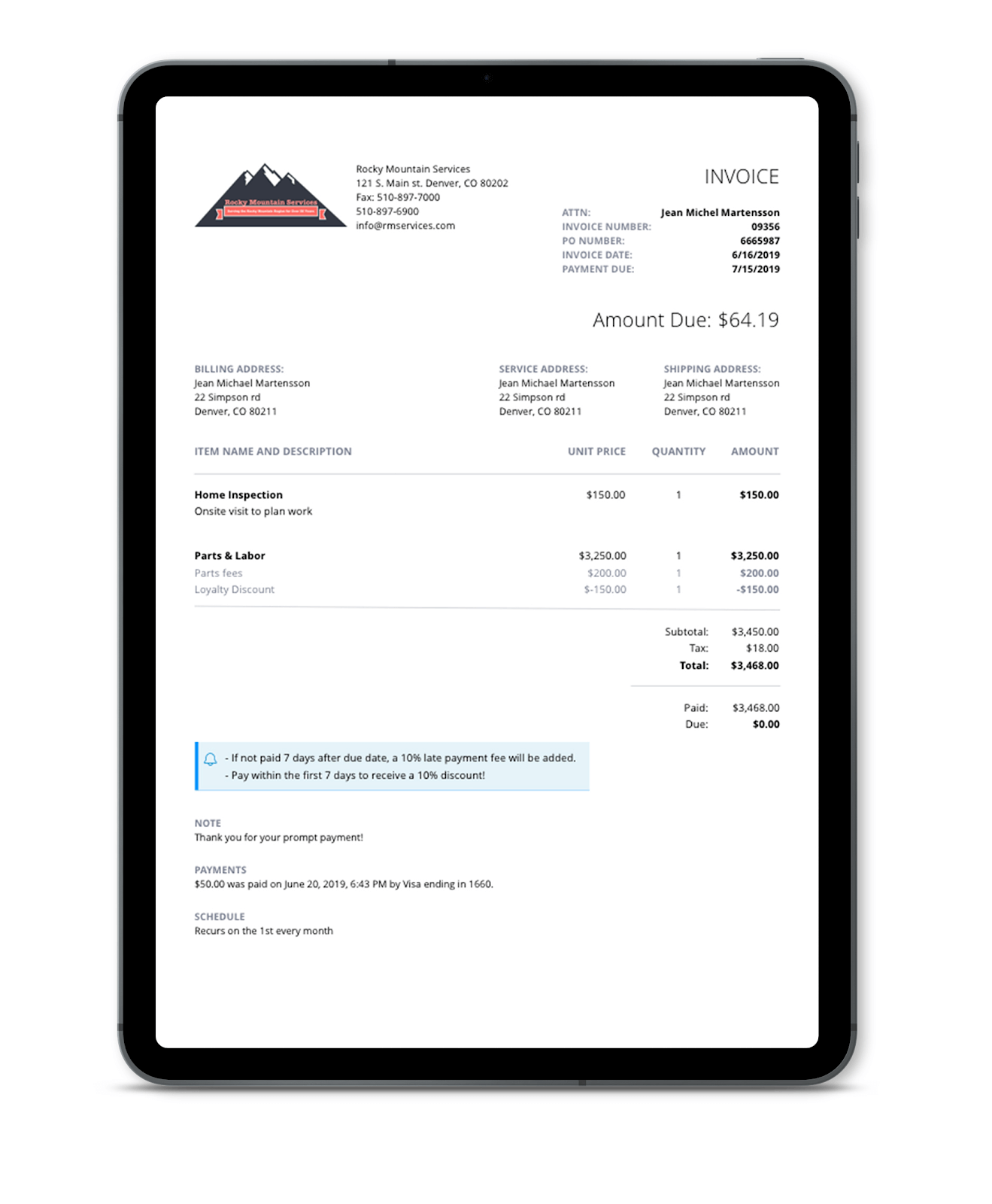 PaySimple invoicing software