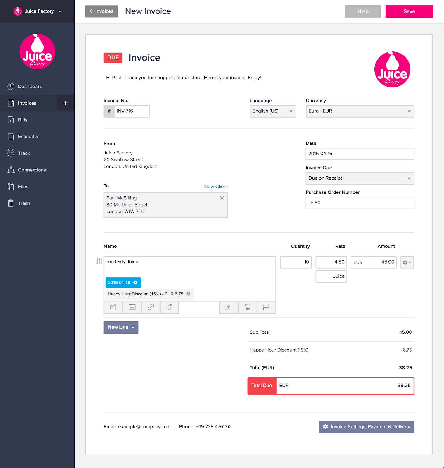 Invoicely cloud base invoicing