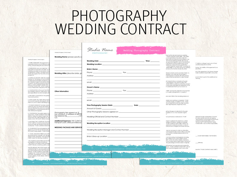Photography Wedding Contract