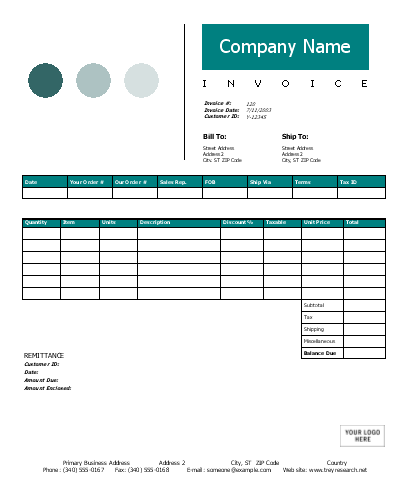 Example of an excel web design template