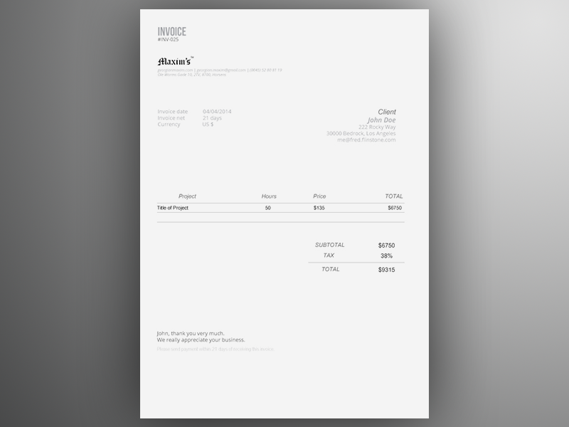 Excel invoices are highly customizable