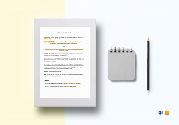 Mobile Design Contract Template Sample