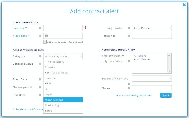Online Contract Maker Sample
