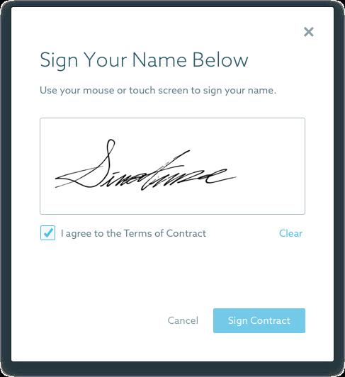 Online Contract Signature (E-Sign)