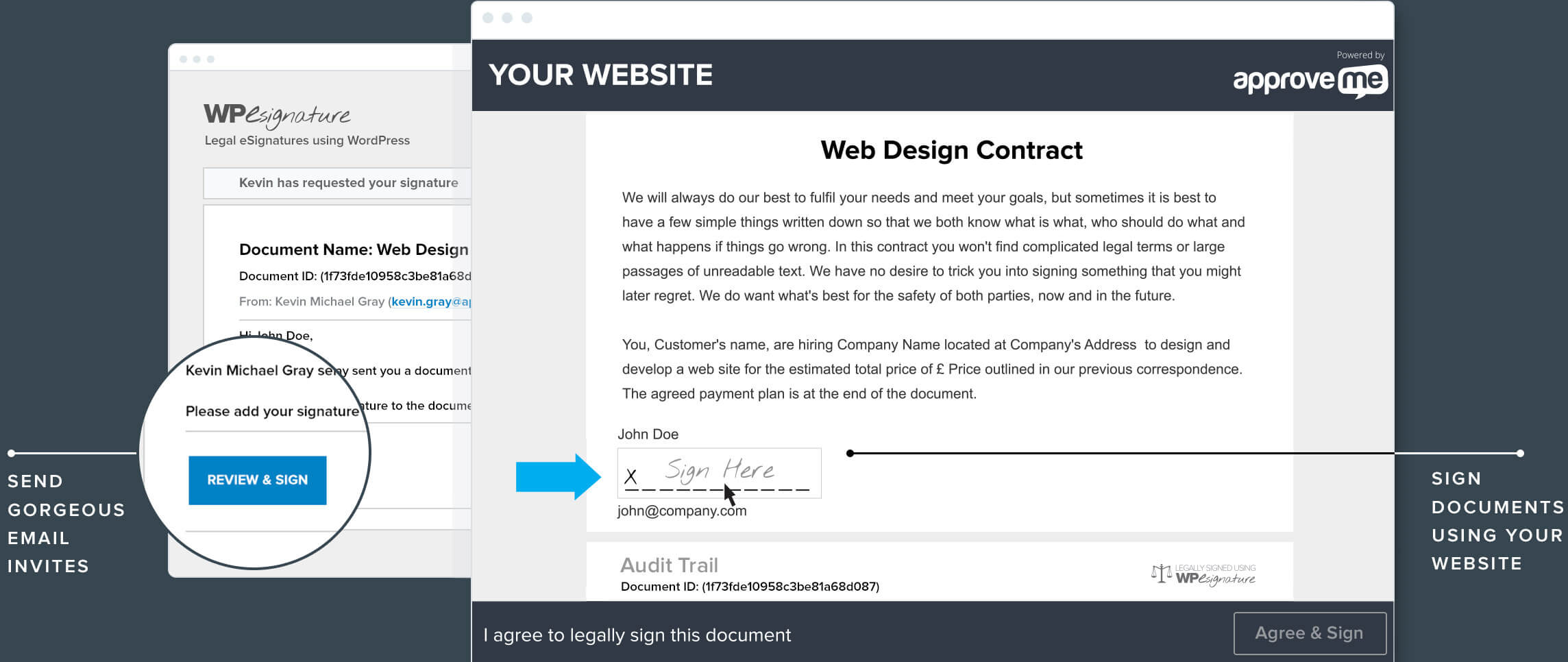Online Contract Maker Example