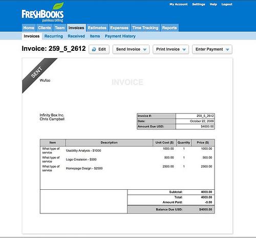Online Invoice Maker Dashboard