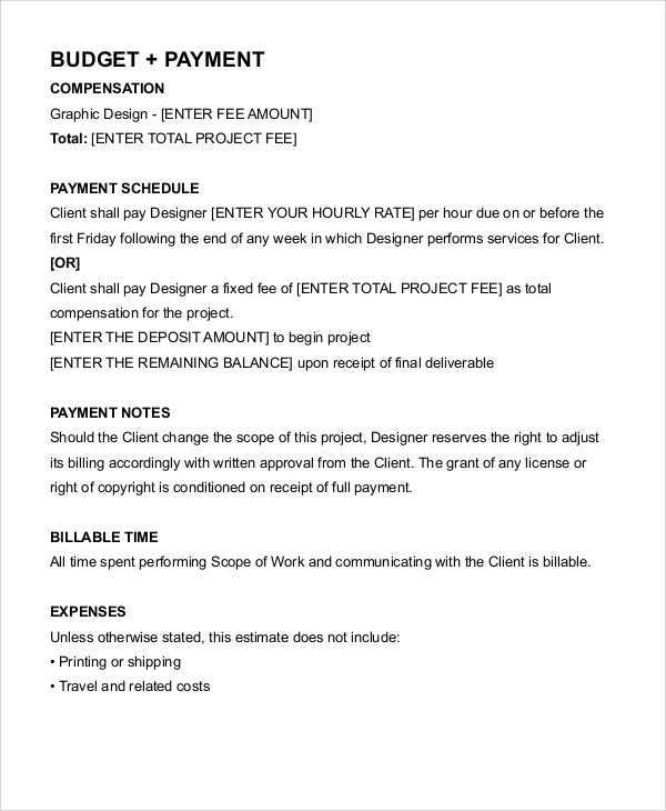 Graphic Design Contract Template Example
