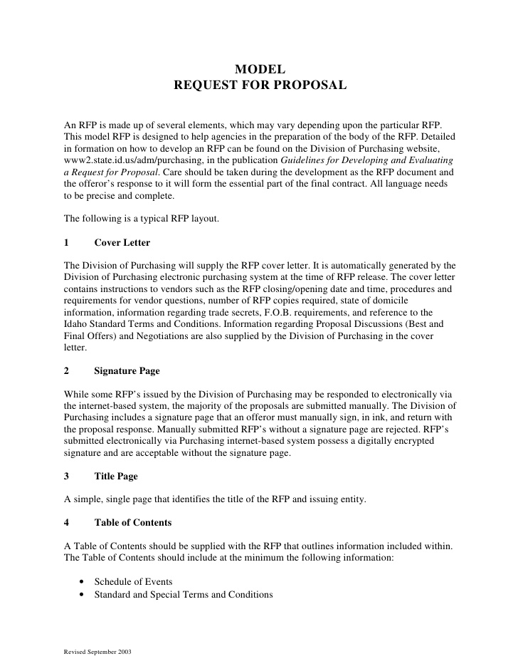 Marketing RFP PDF