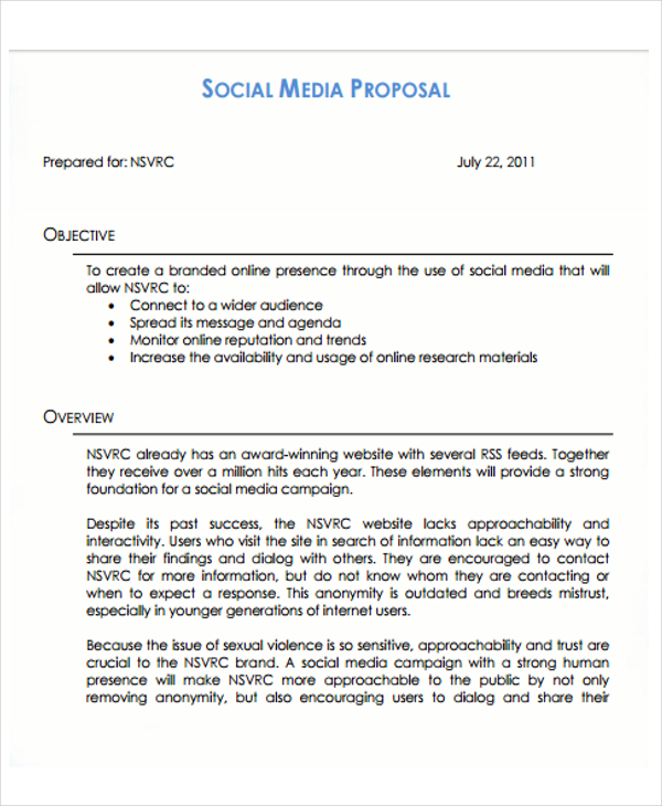 SMM Proposal Template