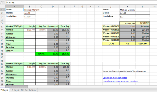Freelancer Timesheet