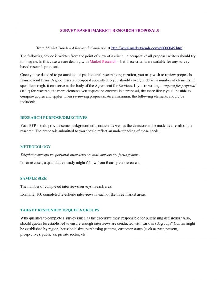 Marketing Research Proposal Template Sample