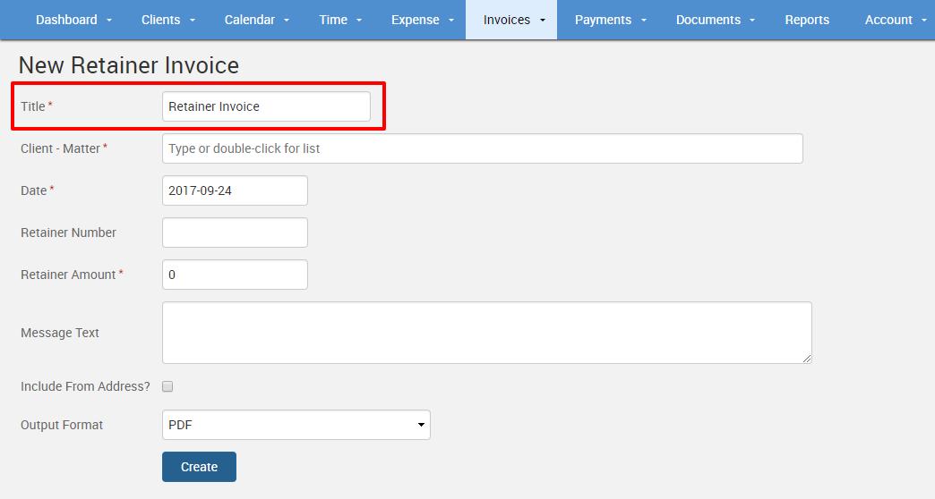 Retainer Invoice Template Sample