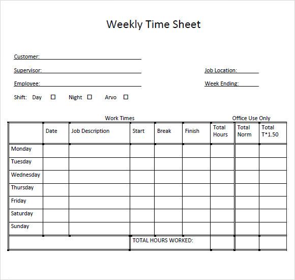 Weekly Timesheet PDF