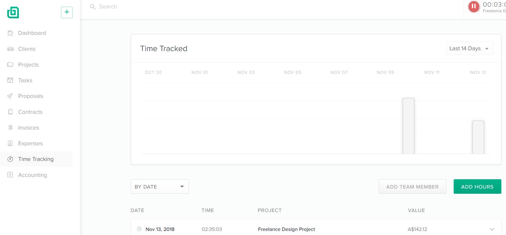 Bonsai Time Tracking
