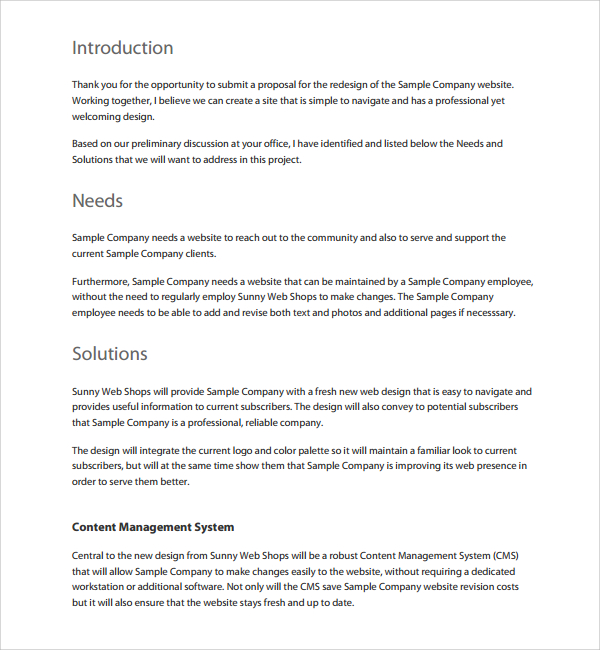 [Download] Website Proposal Template (Word)