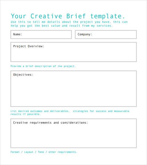 Client Brief Template Sample