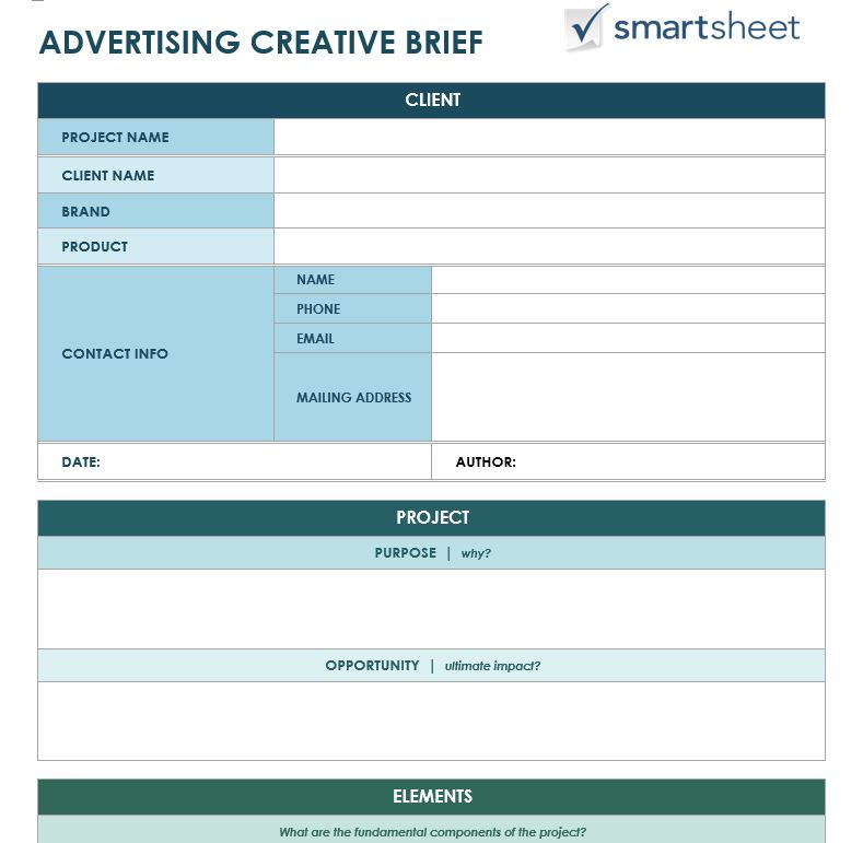 Creative Brief Template Sample