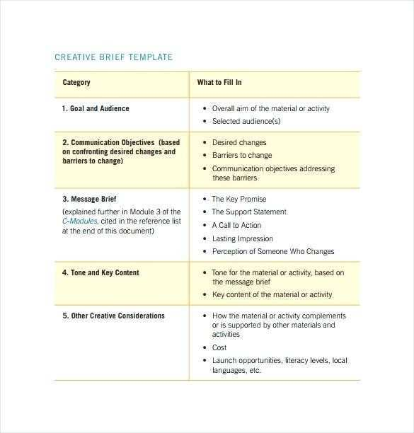 Agency Brief Template
