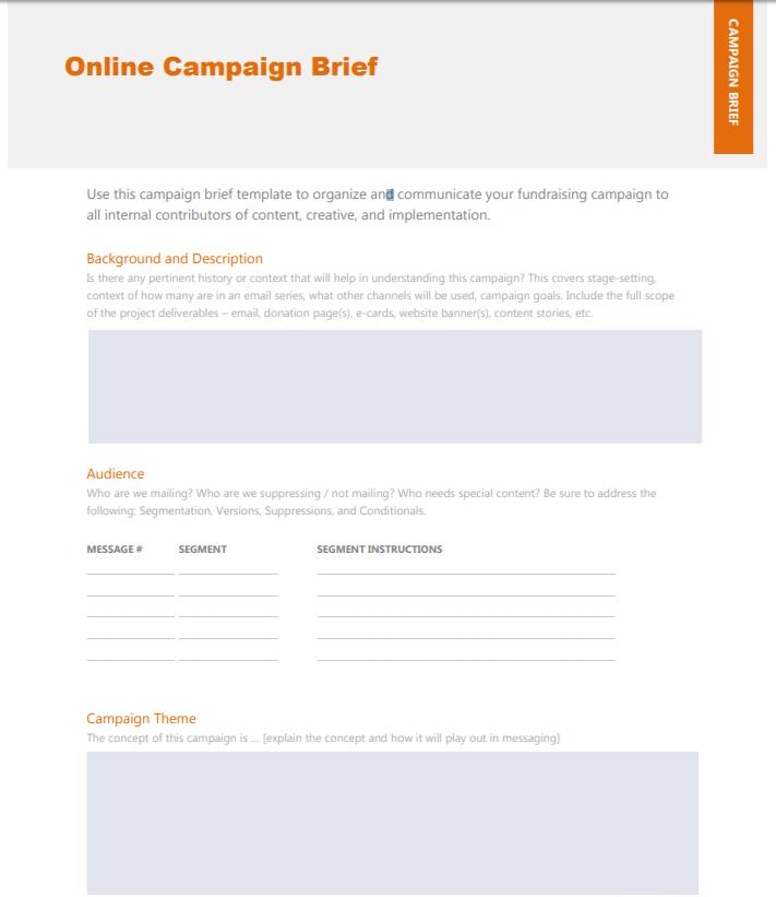 Marketing Campaign Brief Template PDF