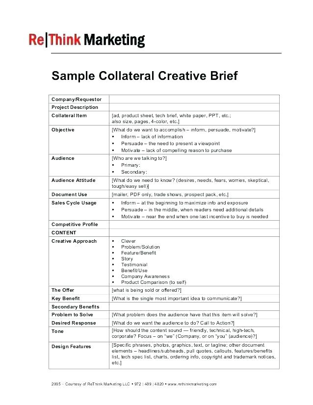 Research Brief Template Sample