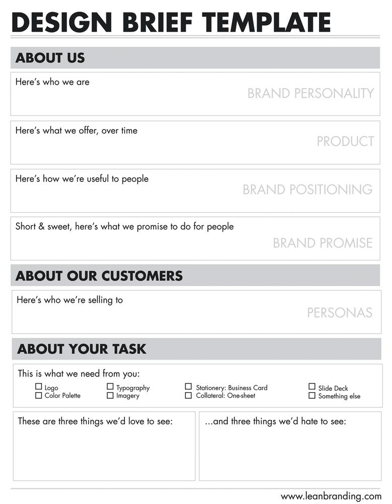Design Project Brief Template