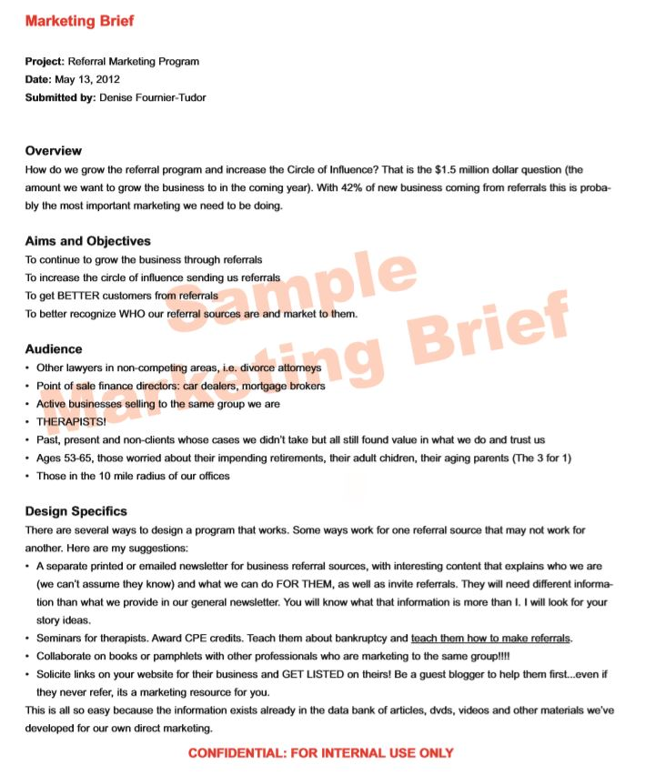 Marketing Creative Brief Template