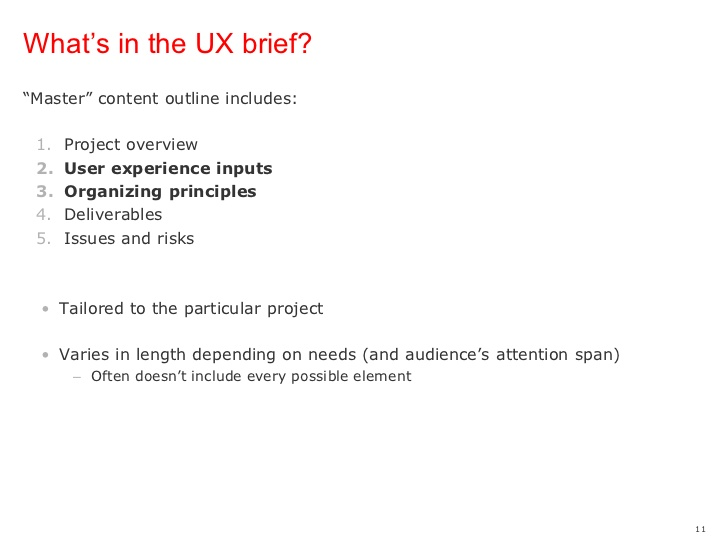 UX Brief Template Sample
