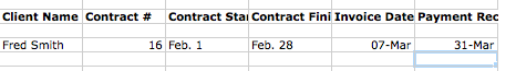 How to track contracts in Excel