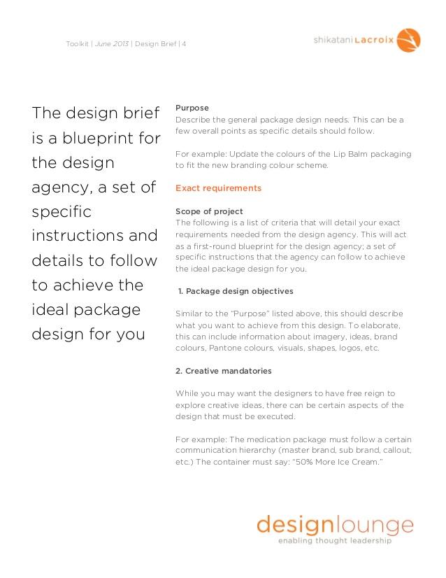 Packaging Design Brief Template Sample