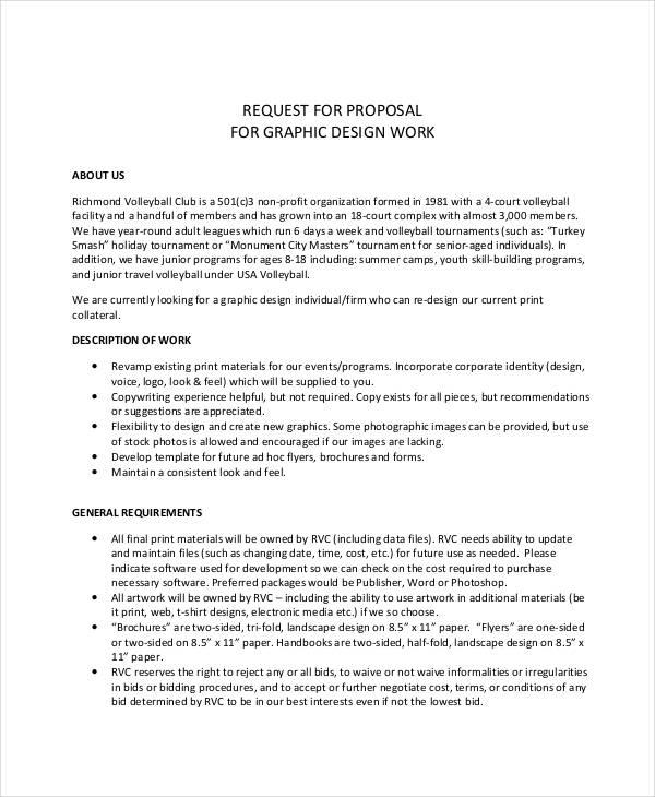 Customizable Design Proposal Example For Download