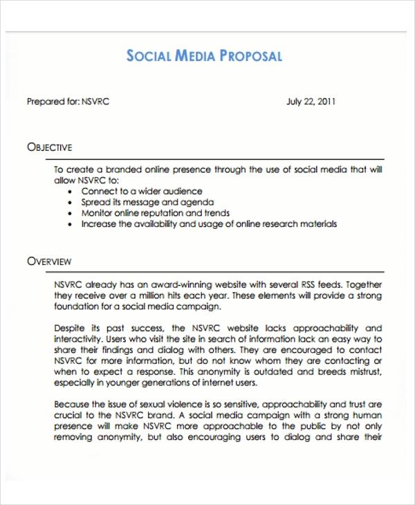 Social Media Proposal Template PPT