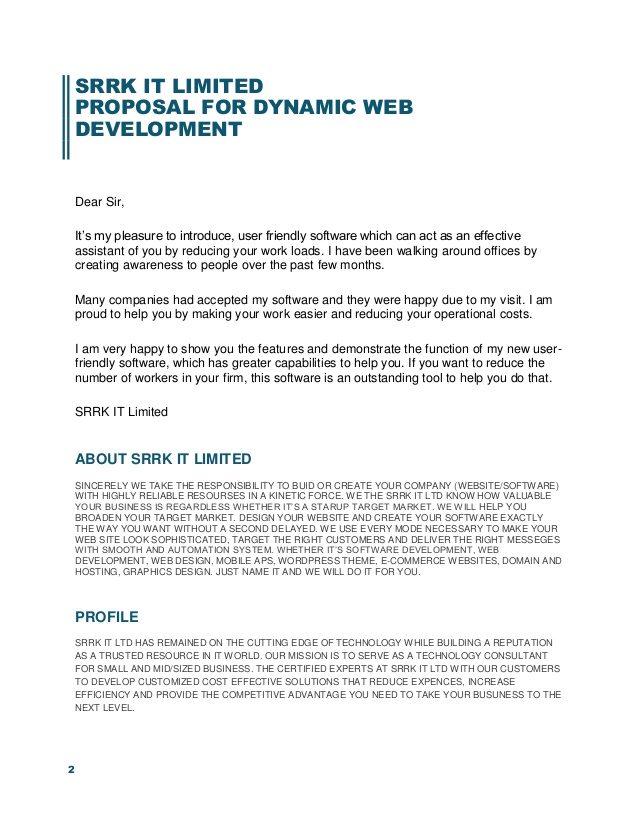 Website Development Proposal Template PDF