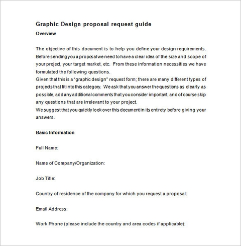 Graphic Design Proposal Template Sample