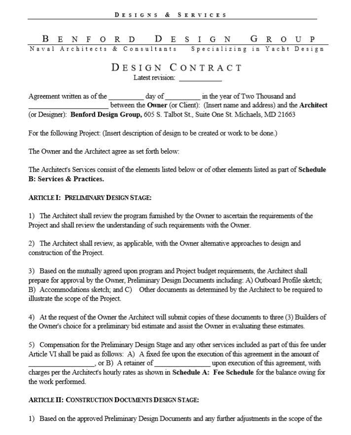 Interior Design Contract Interior Design Agreement Bonsai