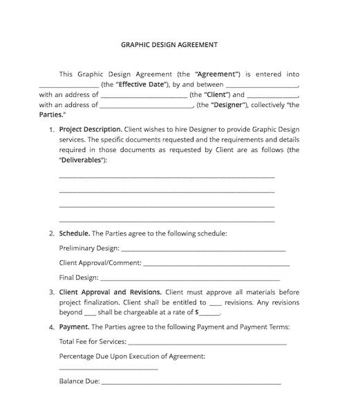 Logo Design Contract Template Example