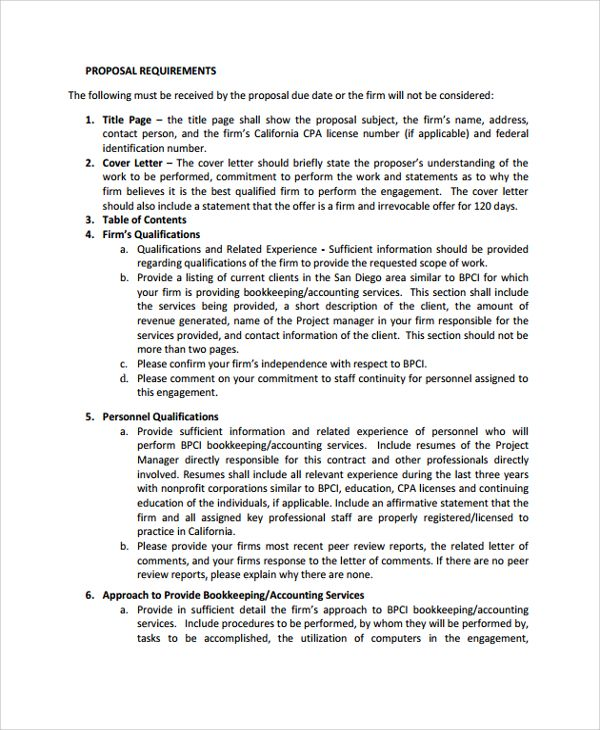 Accounting Services Proposal Template PDF