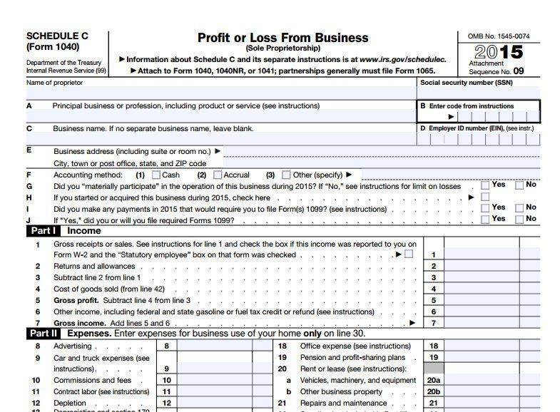 Freelance Writer Taxes Form 1040