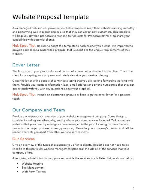 Wordpress Website Proposal Template
