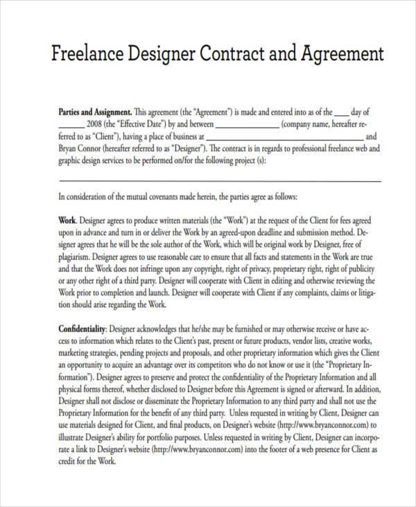 Graphic Design Contract Template Design Agreement Pdf Bonsai