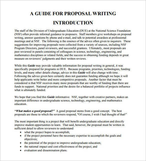How to start a proposal essay