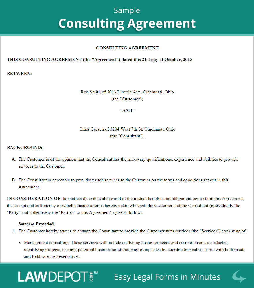 Marketing Consultant Agreement Template Sample PDF