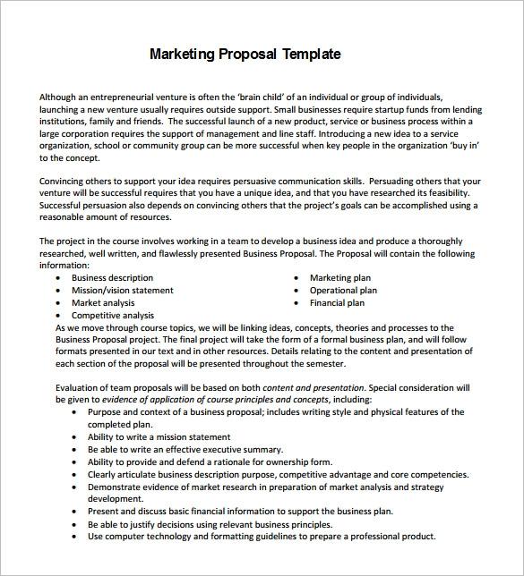 Digital Marketing Proposal Template Word
