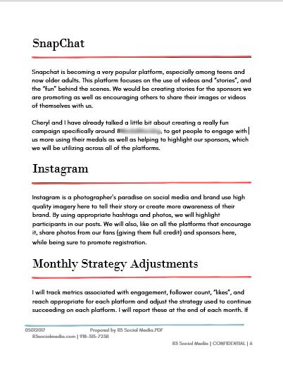 Social Media Proposal Template PPT Sample
