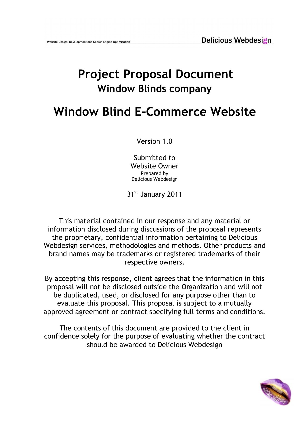 eCommerce Proposal Template