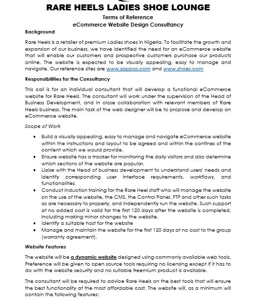 e Commerce Proposal Template (PDF)