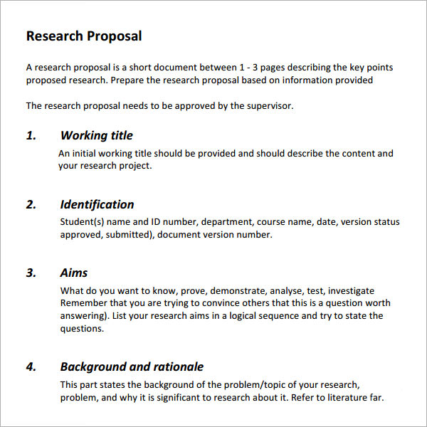 Market Research Proposal Template PPT Sample