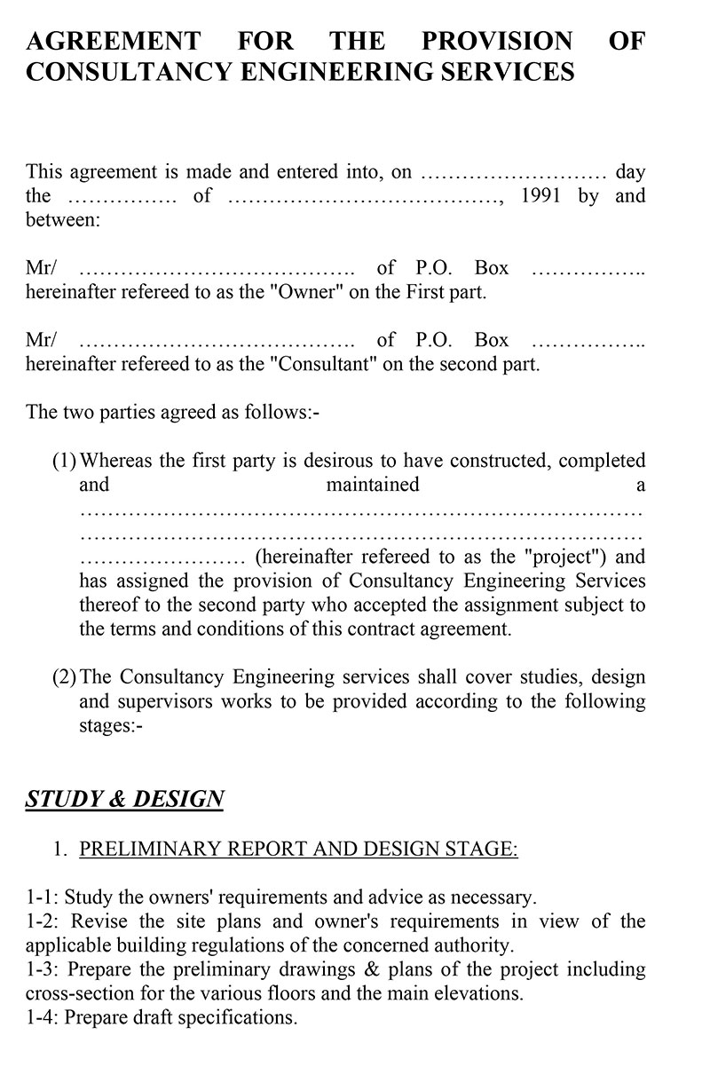 Consultant Fee Agreement Template Sample