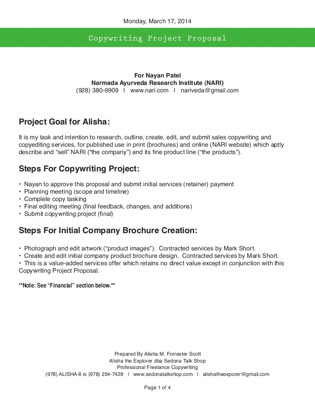 Content Writing Proposal Template PDF