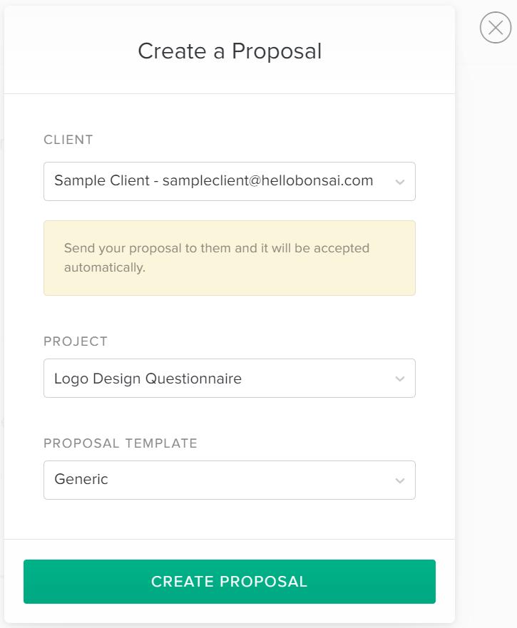 create a proposal